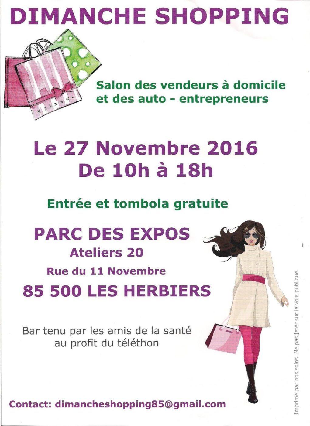 Dimanche shopping : 6e salon des VDI et Auto-Entrepreneurs Les Herbiers