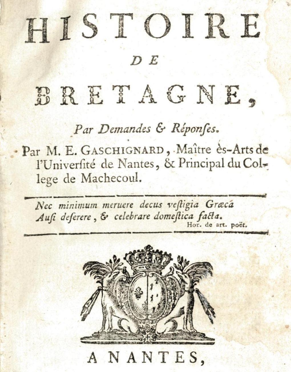Étienne Gaschignard, un Robespierre à Machecoul (1788-1793) Nantes