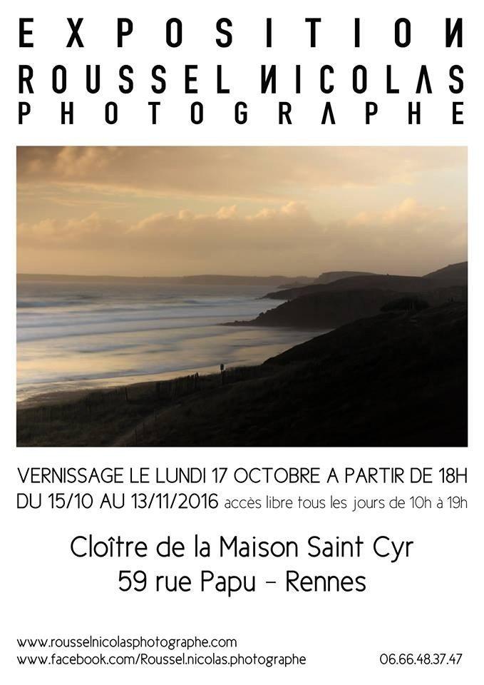 Exposition Nicolas Roussel, photographe Rennes