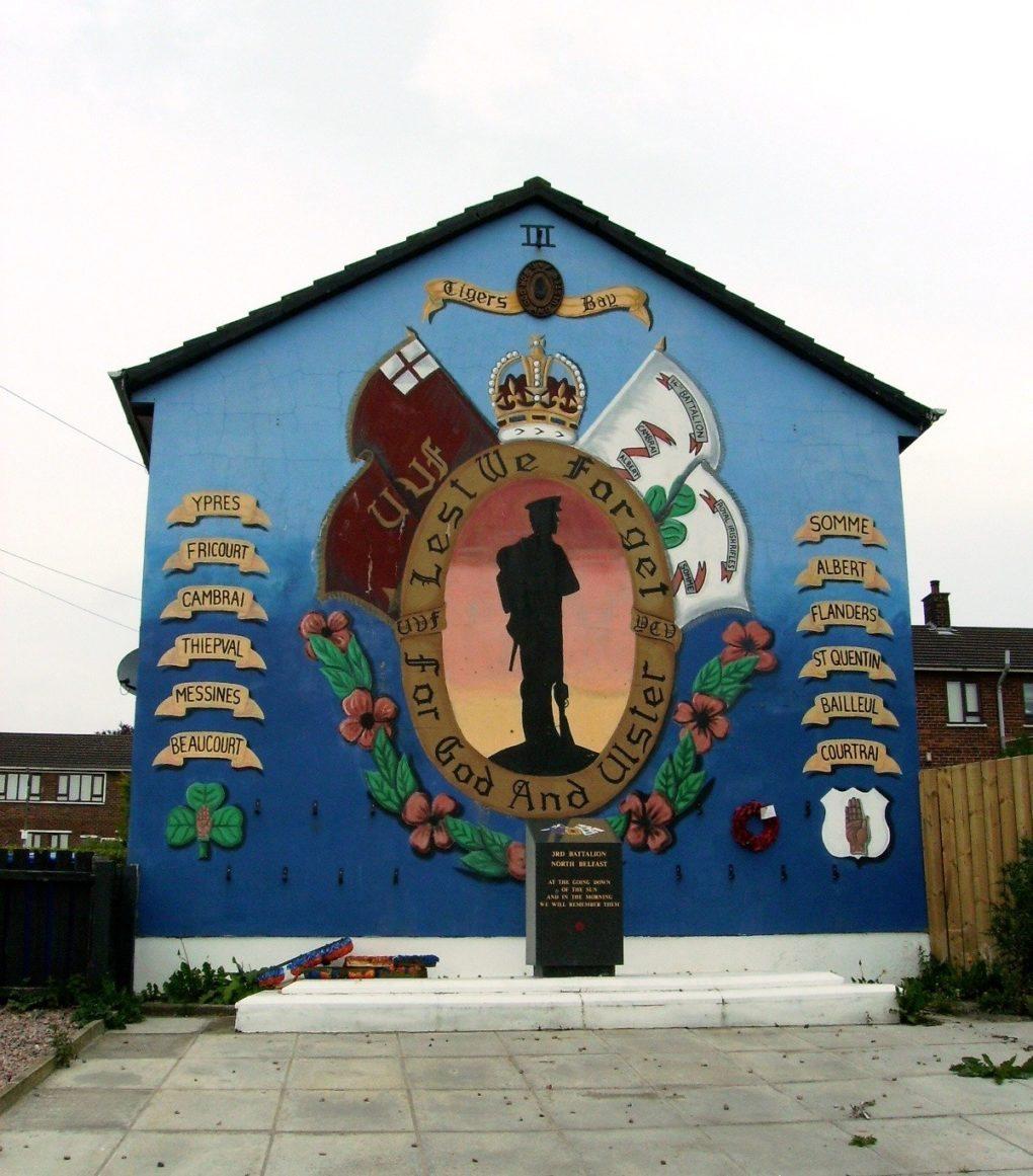 La bataille de la Somme sur les murals d'Irlande du Nord Nantes
