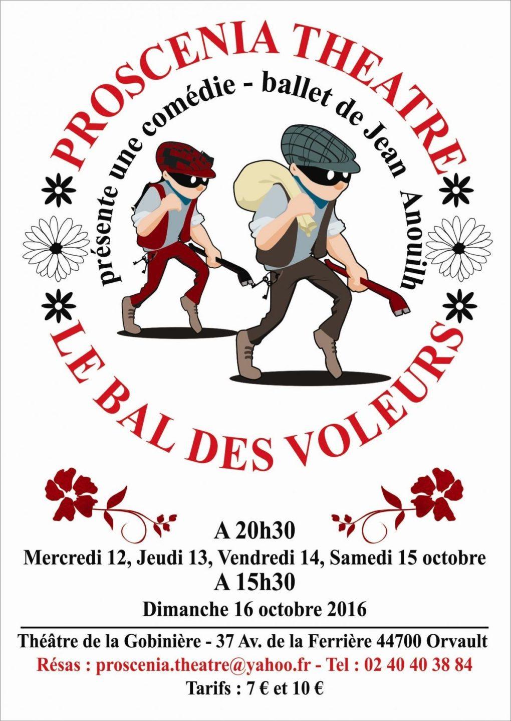 Le bal des voleurs, comédie-ballet de Jean Anouilh Orvault