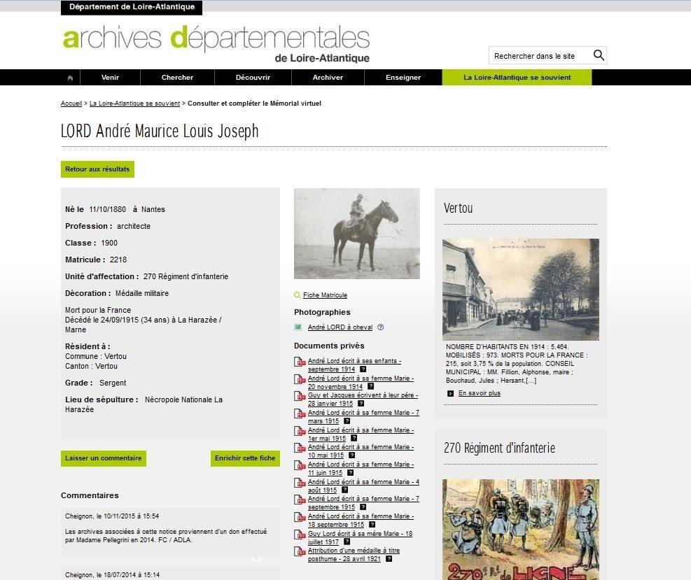 Le mémorial virtuel La Loire-Atlantique se souvient Nantes