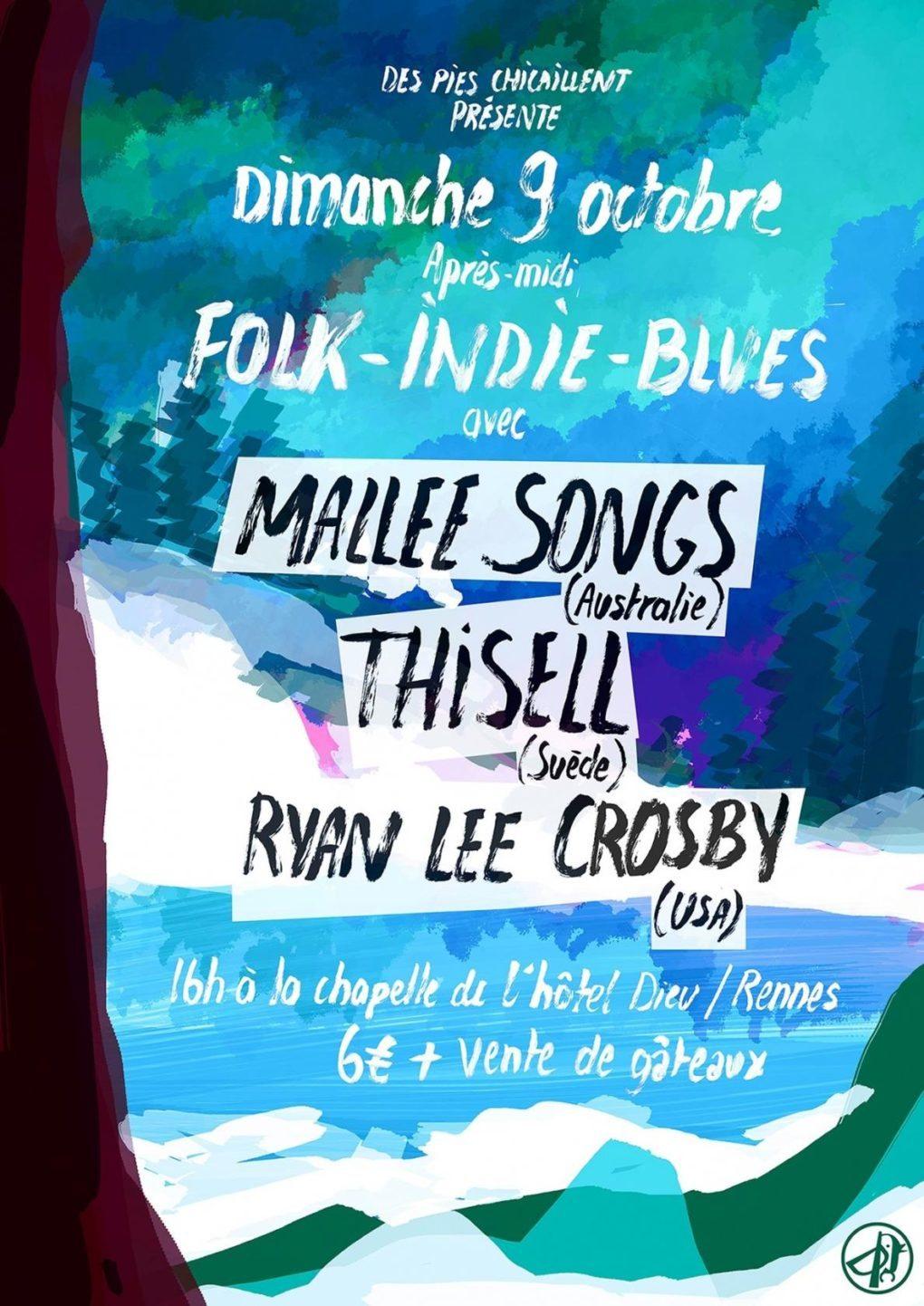 Mallee Songs, Thisell et Ryan Lee Crosby Rennes