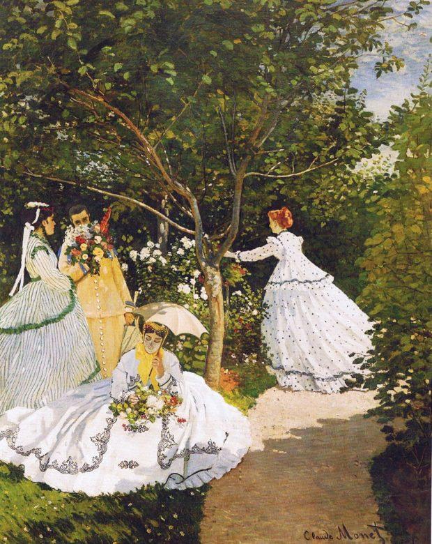 femmes au jardin Monet