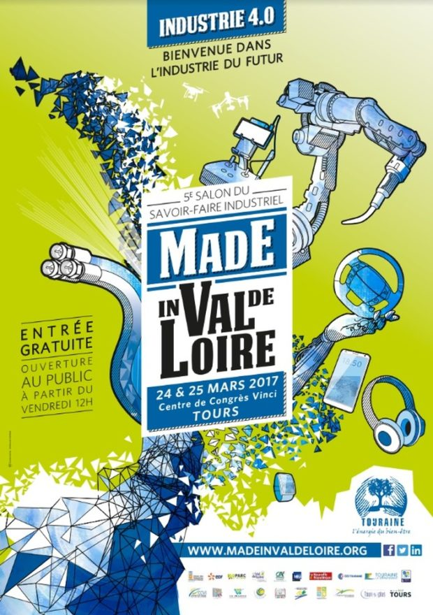 Tours made in val de loire 2017 l industrie 4 0 24 mars for Salon de l industrie 2017