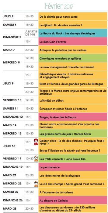 Champs libres février