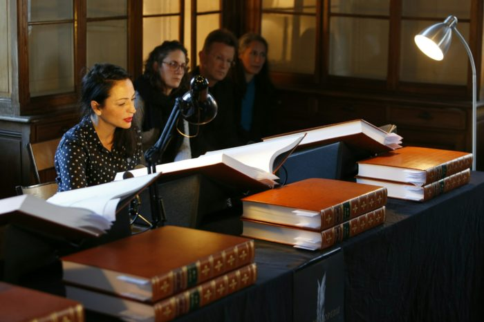 MARATHON DE LECTURE DE L'ENCYCLOPÉDIE DES MIGRANTS À L'HÔTEL PASTEUR