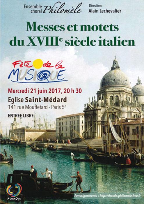 Ensemble choral Philomèle Eglise Saint-Médard Paris