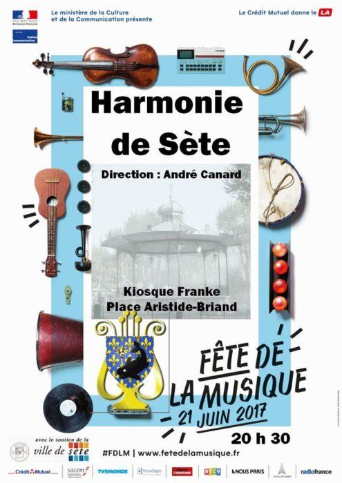 Harmonie de Sète Kiosque Franke Sète