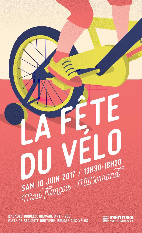 Rennes Fête du vélo 2017 mail François Mitterrand