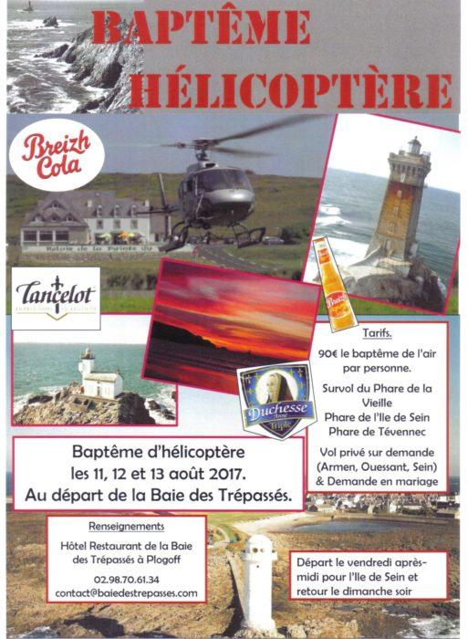 Baptême d'hélicoptère Plogoff