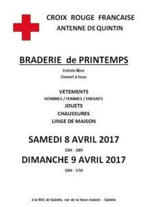 BRADERIE DE PRINTEMPS DE LA CROIX ROUGE QUINTIN
