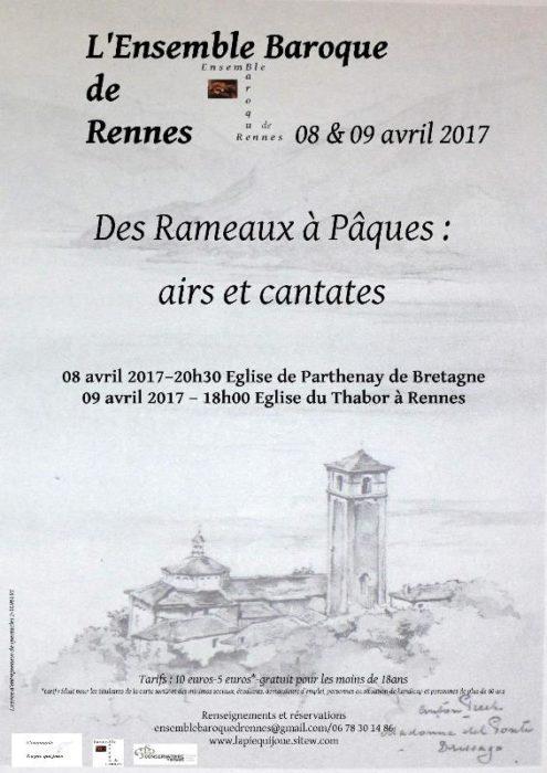 DES RAMEAUX A PAQUES- AIRS ET CANTATES PARTHENAY-DE-BRETAGNE