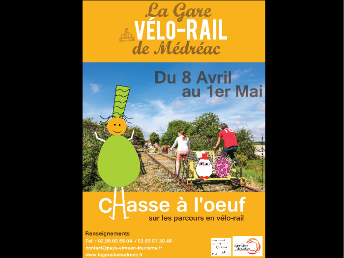 GARE VELO-RAIL / CHASSE A L'OEUF MEDREAC