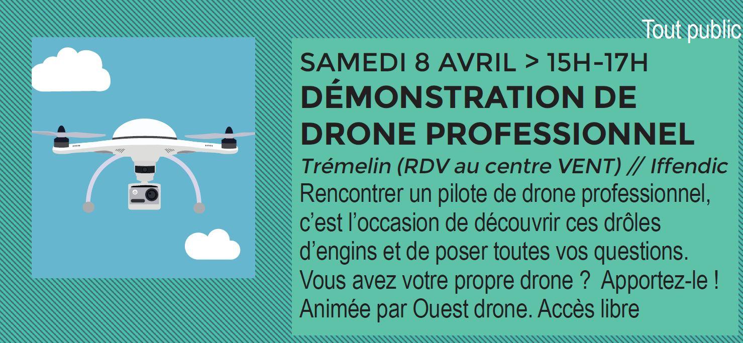 L'EFFET NUMERIQUE : DEMONSTRATION DE DRONE PROFESSIONNEL IFFENDIC