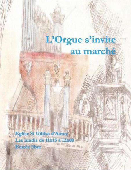 L'ORGUE S'INVITE AU MARCHE AURAY