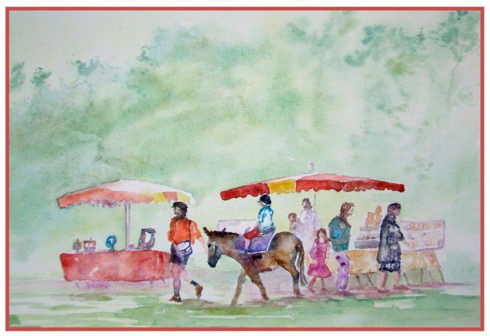 Marché bio artisanal à la ferme d'Emmanuelle Banner Plourhan