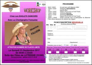 WORKSHOP AVEC SEVERINE FILLION CHEZ LES EAGLE'S DANCERS DES PORTES DE L ENTRE-DEUX-MERS le SAMEDI 23 SEPTEMBRE 2017 A LATRESNE