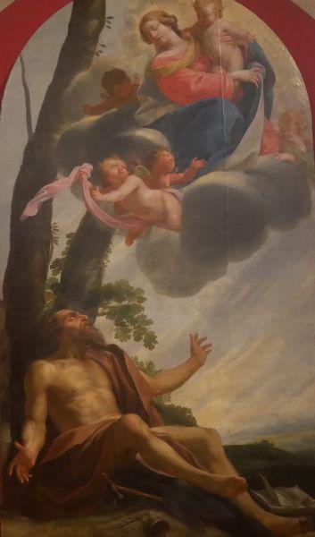 Simon Vouet, Apparition de la Vierge et de l'Enfant Jésus à Saint Antoine