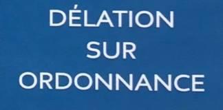 BERNARD PROU DELATION SUR ORDONNANCE