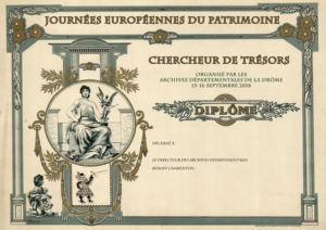 Animation Chasse au trésor aux archives départementales.