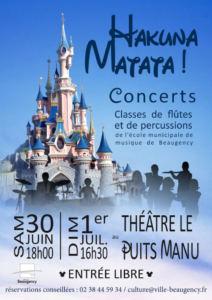 Concert des classes de flûtes et percussions de l'école municipale de musique de Beaugency.