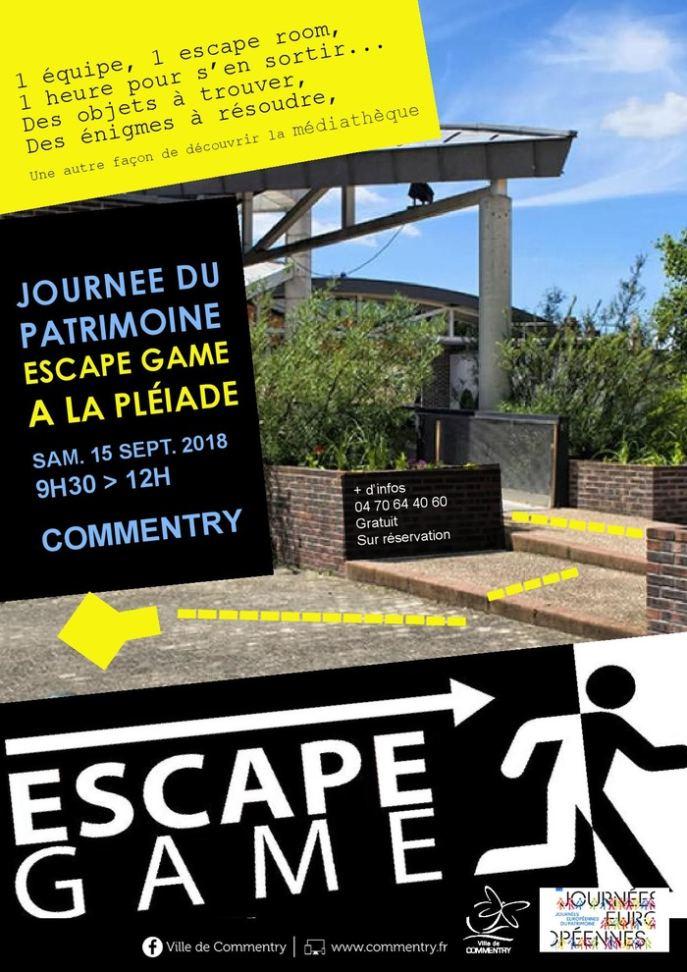 Escape game à la médiathèque. Espace culturel la pléiade Commentry ...