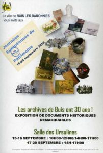 EXPOSITION A BUIS-LES-BARONNIES
