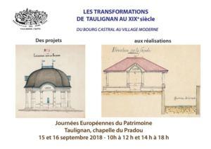 EXPOSITION LES TRANSFORMATIONS DE TAULIGNAN AU XIXE SIECLE