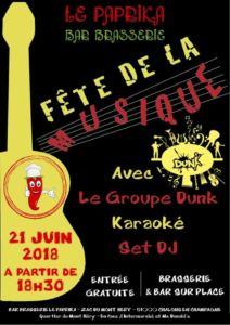 Le groupe Dunk / karaoké / set DJ