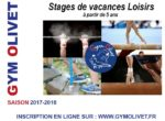 STAGES DE VACANCES EN GYMNASTIQUE