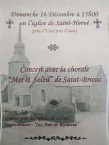 Concert Mer et Soleil Eglise de Saint-Hervé