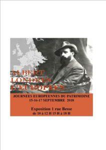 EXPOSITION ALBERT LONDRES, DANS L'EUROPE DE L'APRES-GUERRE.