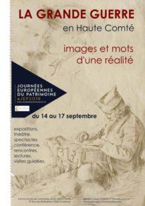 Exposition La Grande Guerre en Haute Comté images et mots d'une réalité