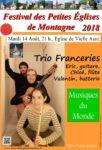FESTIVAL DES PETITES EGLISES DE MONTAGNE : MUSIQUES DU MONDE