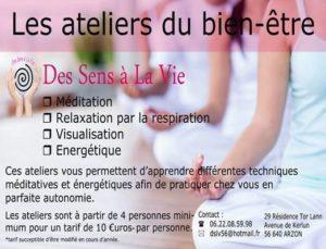 Les Ateliers du Bien-Etre (Méditation et Initiation à l'Energétique) par Des Sens à la Vie ARZON 2020-03-05