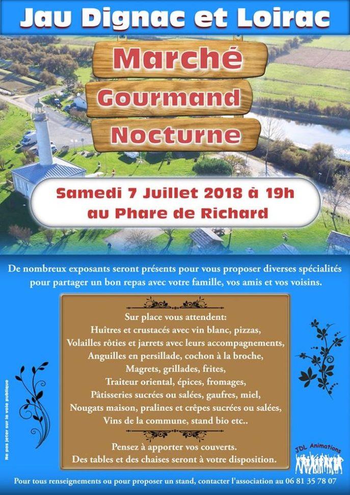 Marché gourmand nocturne Beaumontois en Périgord   2020-08-31