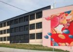 Peinture murale de 13 m x 10 m de Guillaume Bottazzi