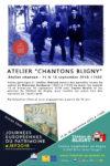 Atelier de chanson Chantons Bligny autour des parodies blignesques du cahier de Monsieur Duchesne (1907)