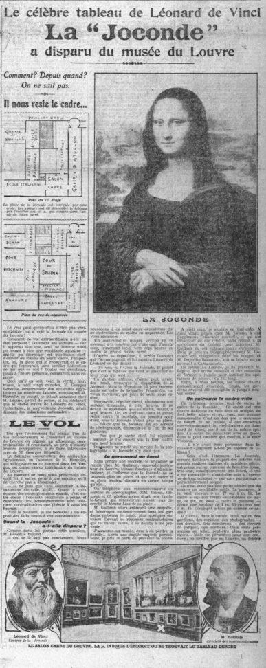 VOL JOCONDE 1911