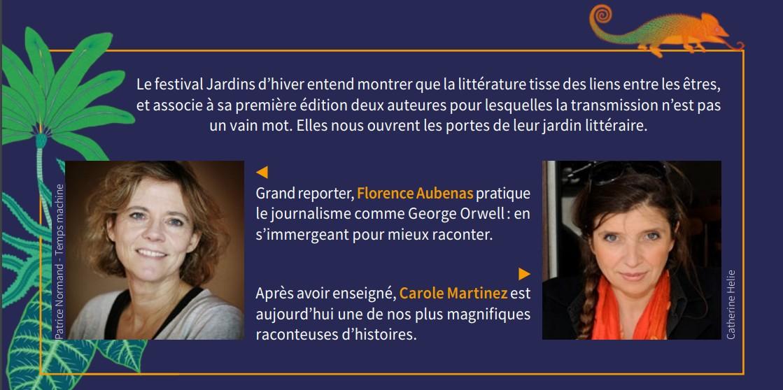 Champs libres Rennes Jardins d'hiver Florence Aubenas Carole Martinez