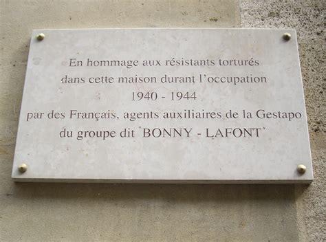 hommage aux victimes de la gestapo française