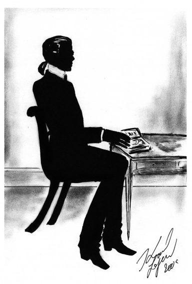 Karl Lagerfeld autoportrait