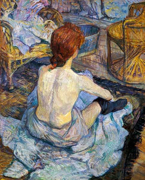 Henri de Toulouse-Lautrec Femme à sa toilette