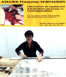 Visite d'un atelier de tapisserie d'Aubusson avec démonstration Atelier de tapisseries Françoise Vernaudon