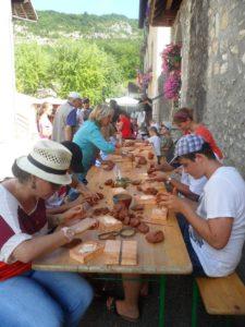 Atelier poterie Musée gallo-romain de Chanaz