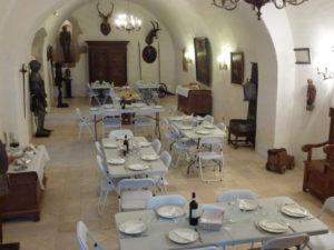 Buffet dans un lieu historique Château de la reine Margot