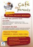 Café des parents – Déjeuner partagé - Vendredi 21 juin Centre de Loisirs Maternelle