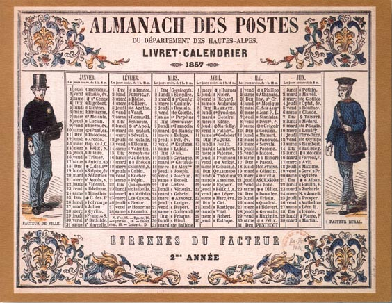 CALENDRIERS POSTE COTTARD