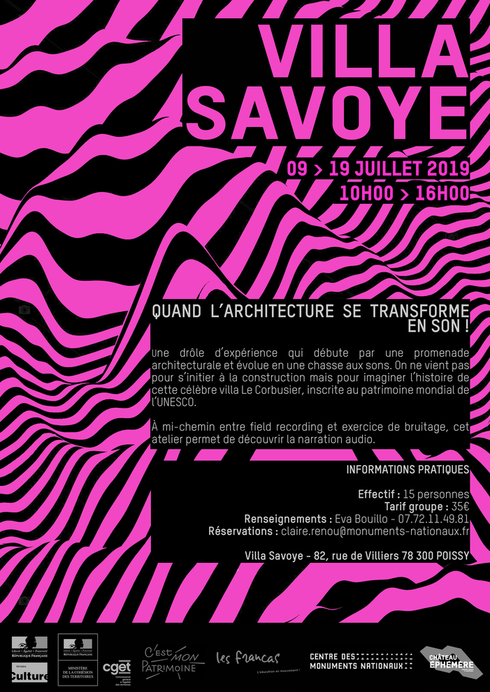 C'EST MON PATRIMOINE à la villa Savoye Villa Savoye – 82 rue de Villiers 78 300 Poissy